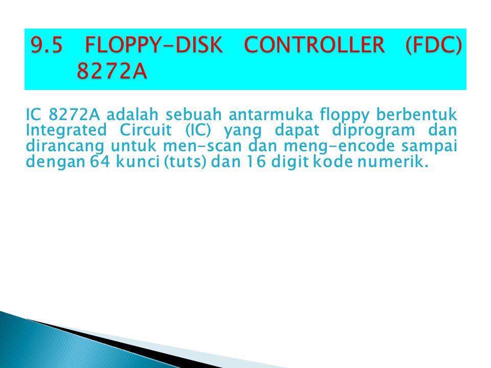 IC 8272A adalah sebuah antarmuka floppy berbentuk Integrated Circuit (IC) yang dapat diprogram dan dirancang untuk men-scan dan meng-encode sampai den