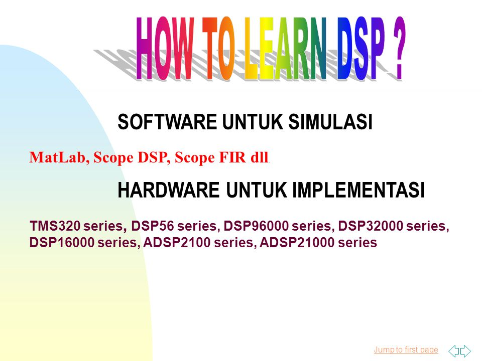 Jump to first page MatLab, Scope DSP, Scope FIR dll.