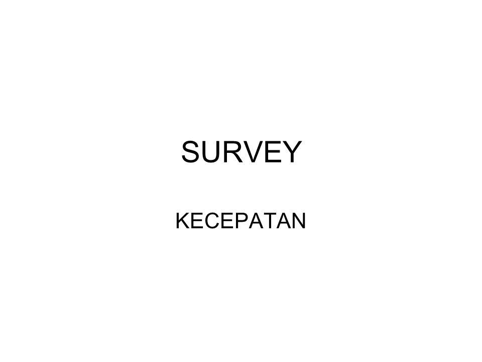 SURVEY KECEPATAN