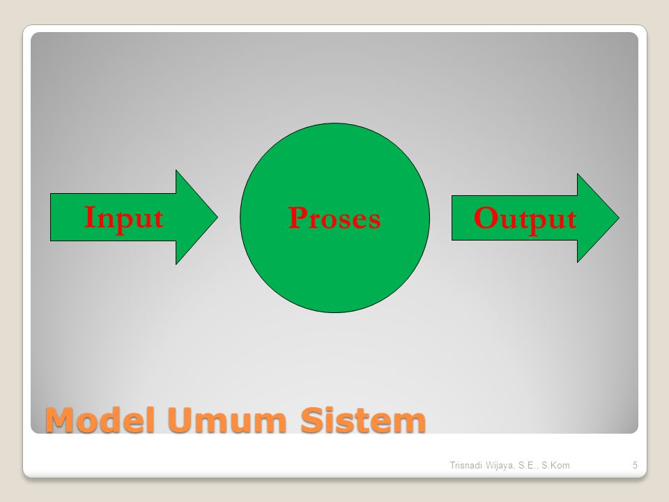 Elemen Sistem  Input  Proses  Output  Umpan balik  Pengendalian  Tujuan.