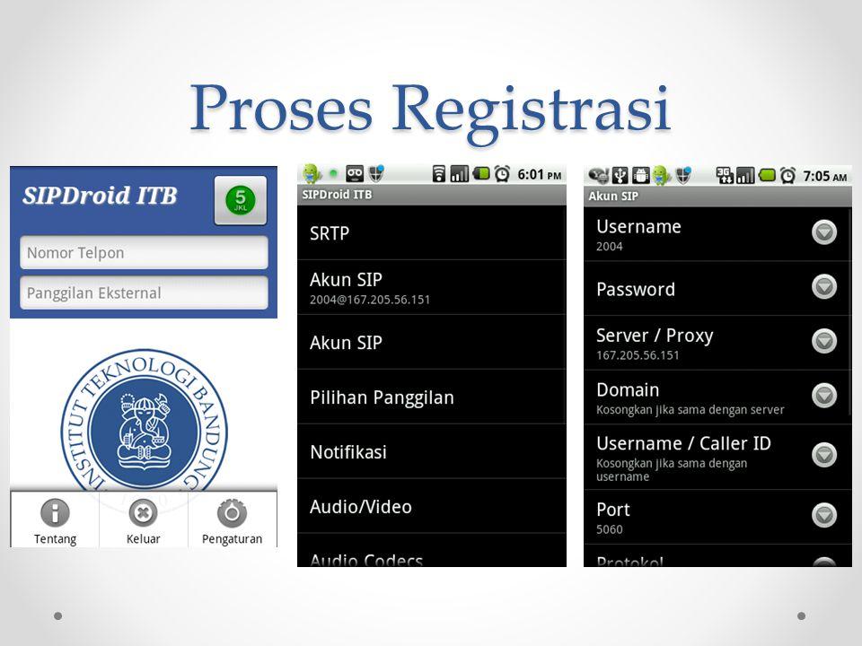 Proses Registrasi