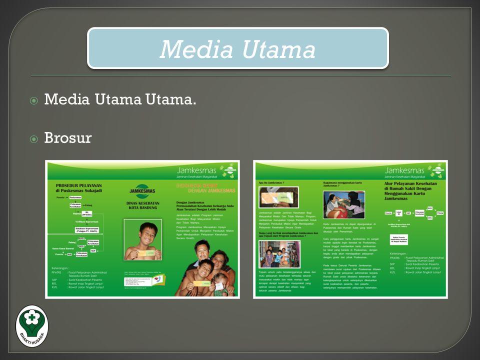  Media Utama Utama.  Brosur Media Utama Media Utama