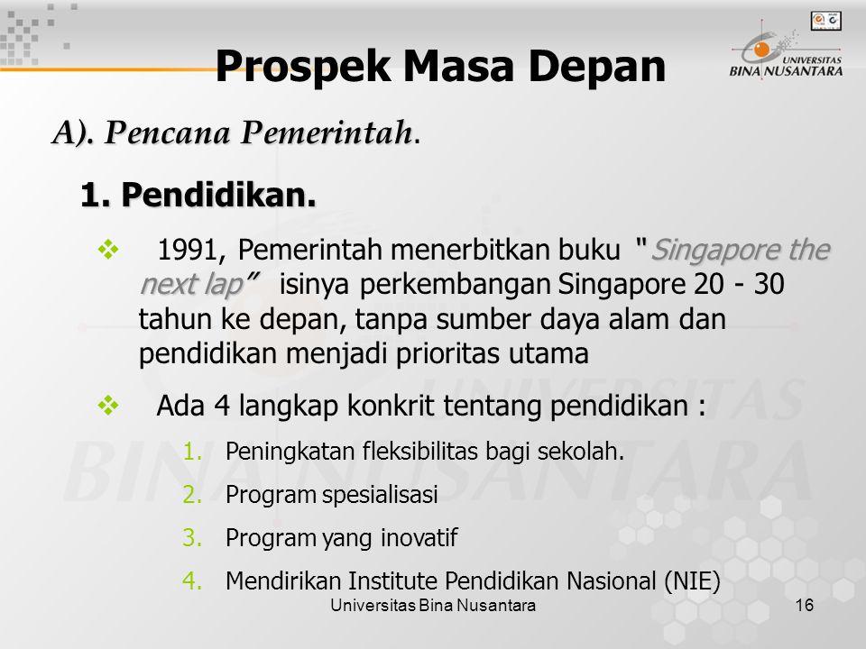 Universitas Bina Nusantara16 Prospek Masa Depan A).