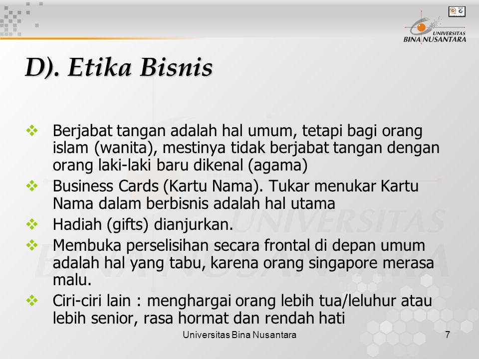 Universitas Bina Nusantara7 D).