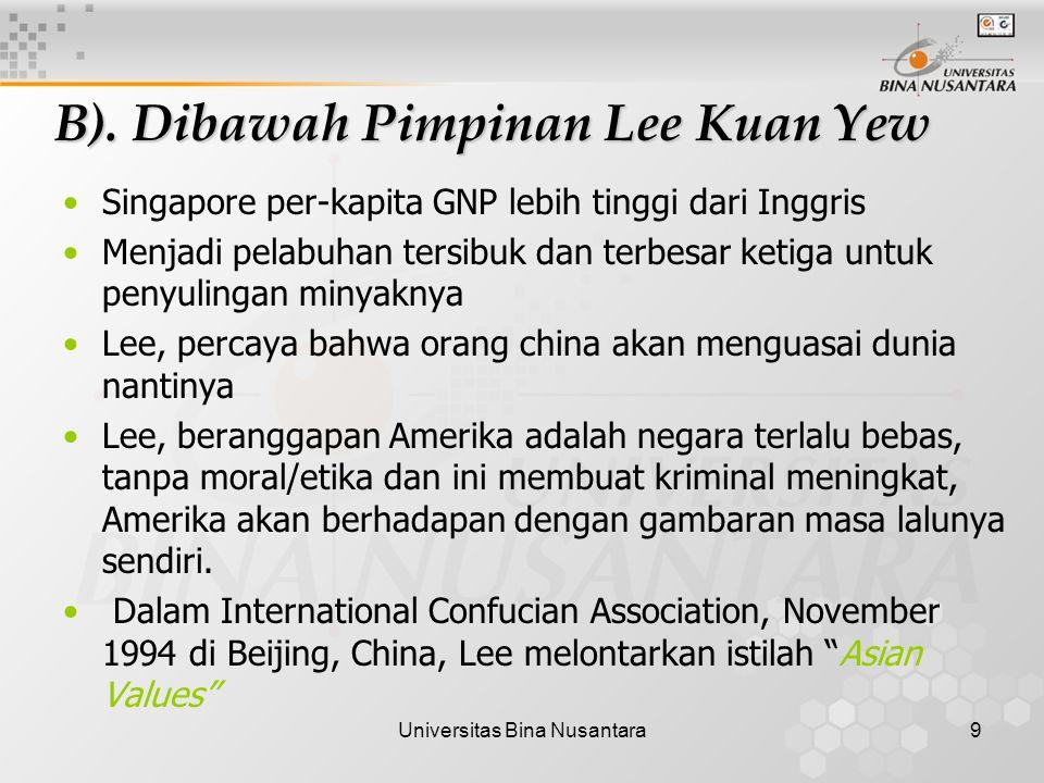 Universitas Bina Nusantara9 B).
