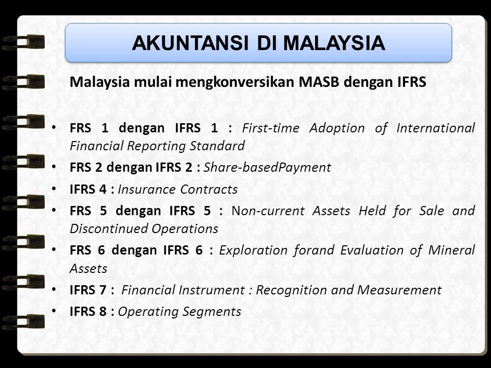 Pada 2012, semua standar akuntansi IFRS berlaku dan disetujui perusahaan publik, anak perusahaan, dan entitas publik akuntabel. Contoh Perusahaan roko