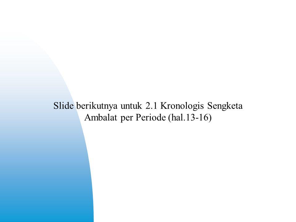 Slide berikutnya untuk 2.1 Kronologis Sengketa Ambalat per Periode (hal.13-16)