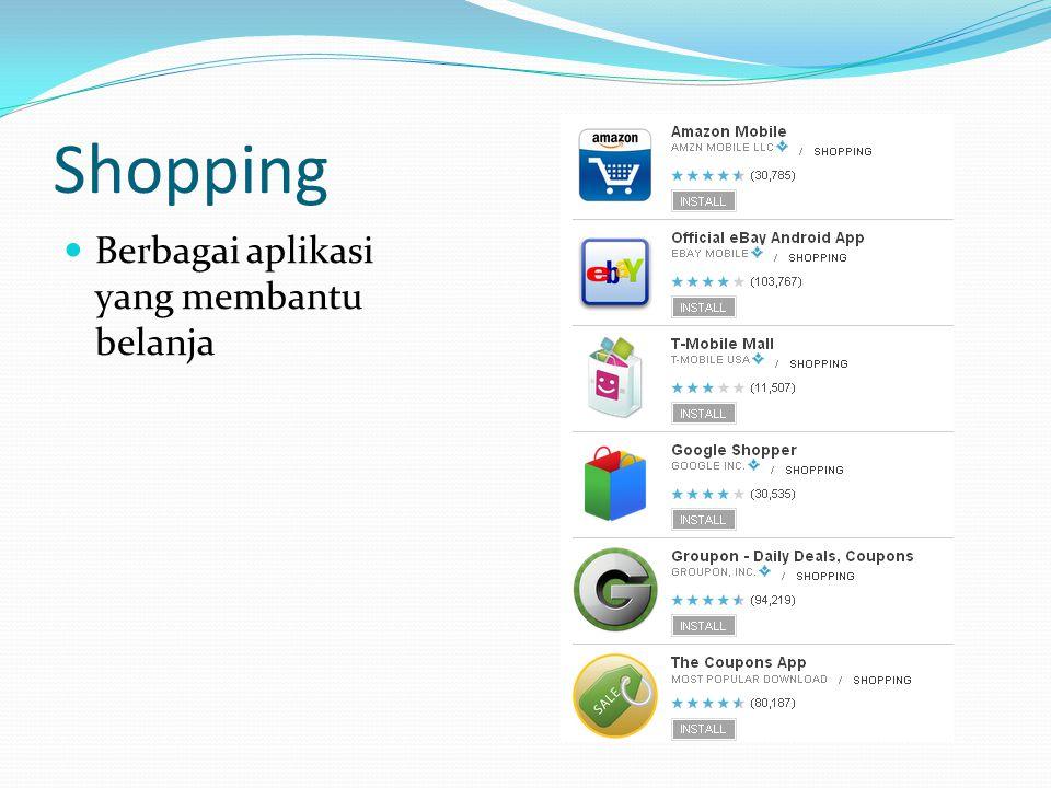 Shopping Berbagai aplikasi yang membantu belanja