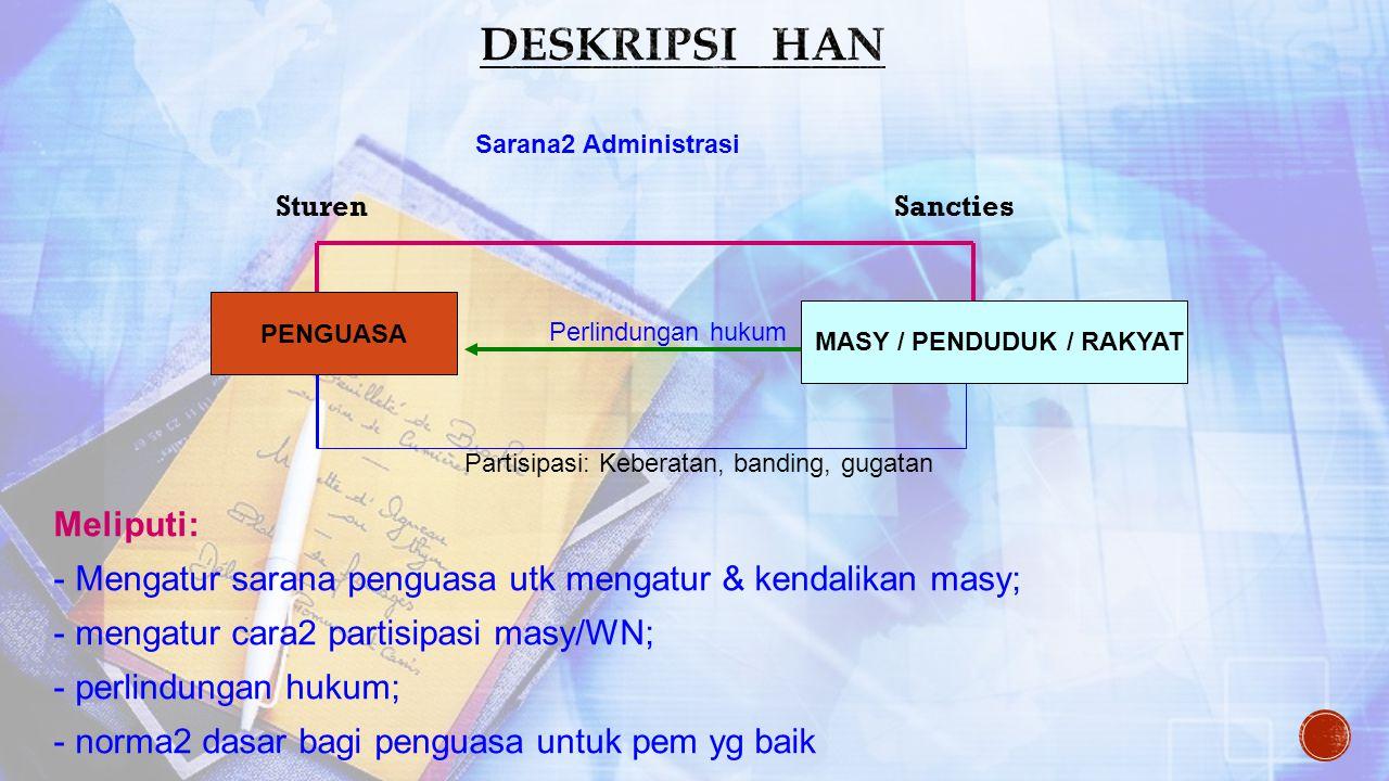 1.Peraturan-peraturan yg mengatur hub. Timbal balik antara pemerintah dan rakyat (J.M.