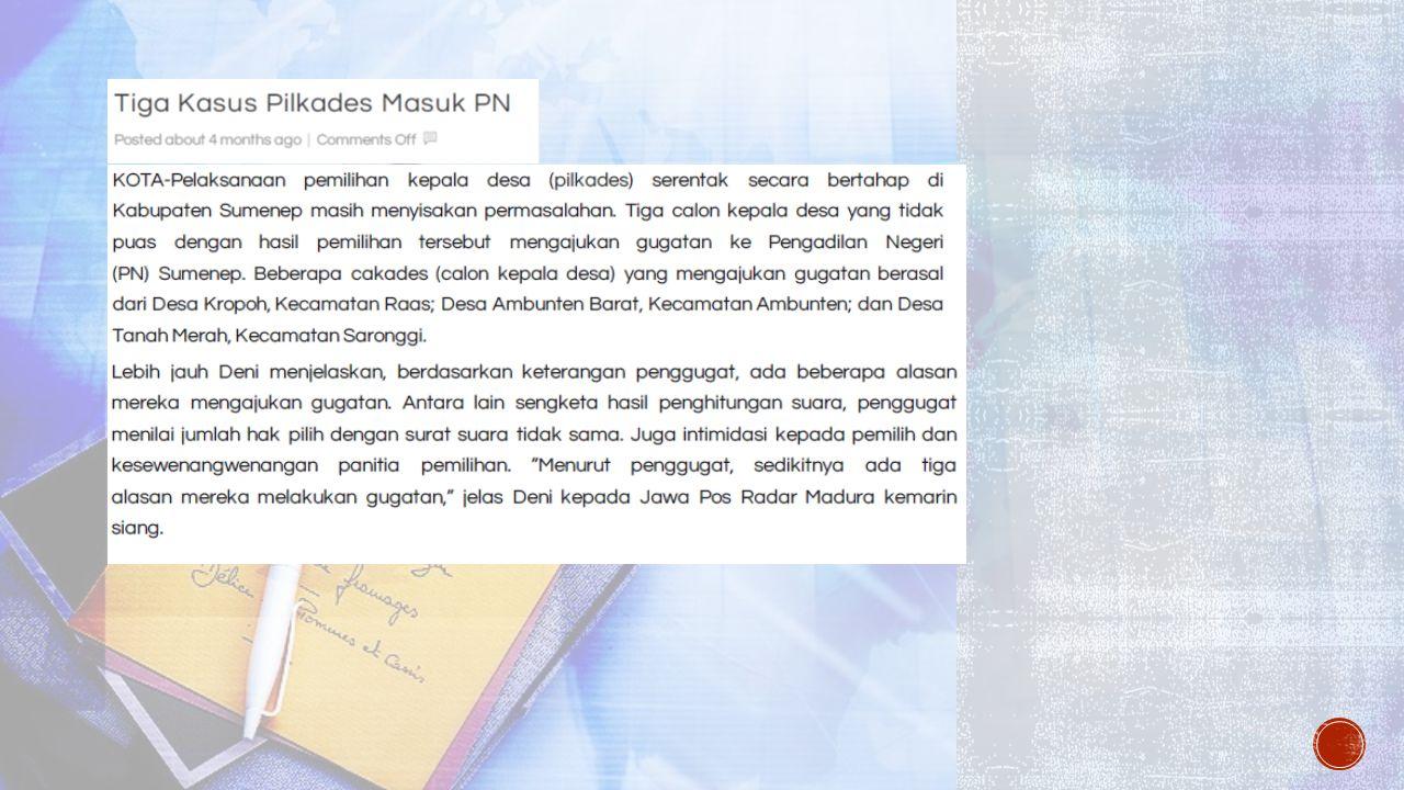 UNSUR-UNSURNYA: 1.Penetapan tertulis 2. Dikeluarkan oleh Pejabat TUN 3.