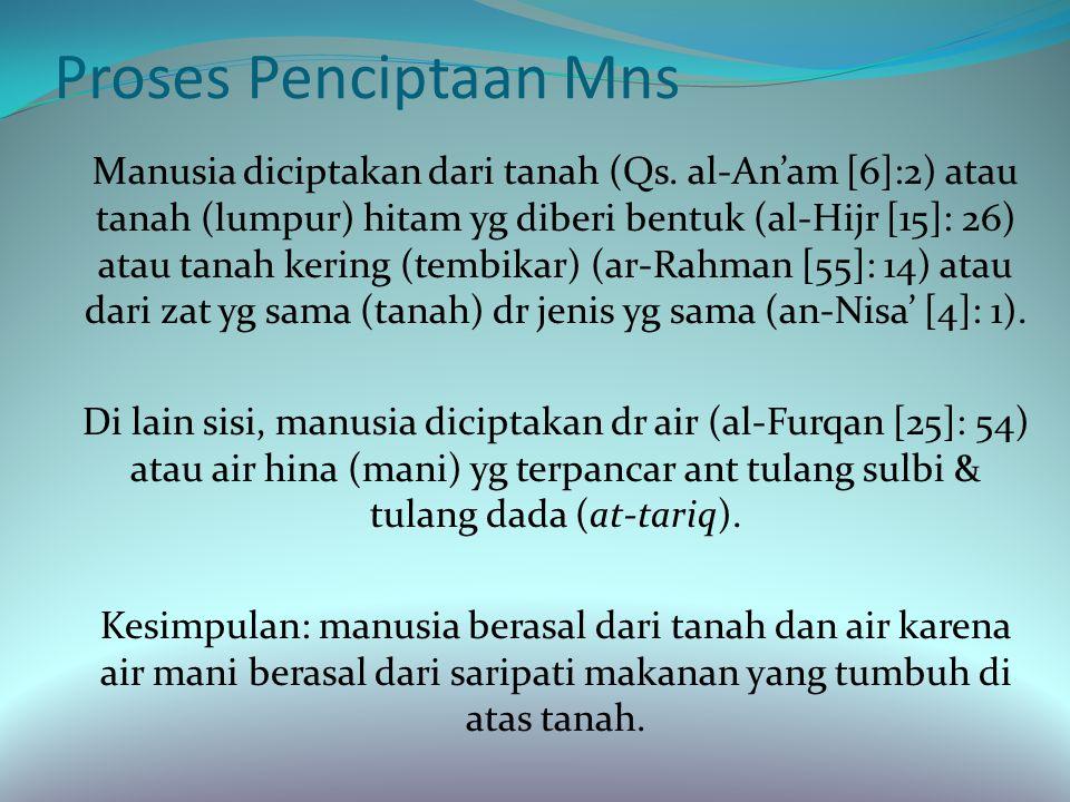 Lanjutan Keistimewaan manusia dibanding makhluk lainnya mrt ajaran Islam: 1) makhluk yg paling unik, bentuk yg baik, ciptaan yg paling sempurna (Qs.