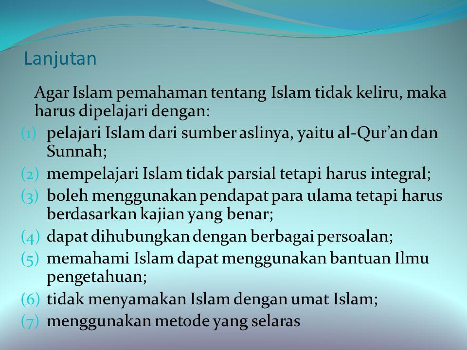 Kesalahpahaman Memahami Agama Agama seringkali disalahpahami bukan saja pada orang- orang nonmuslim tetapi juga oleh orang muslim itu sendiri.