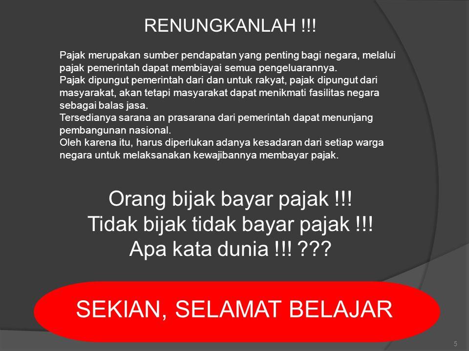 5 RENUNGKANLAH !!.