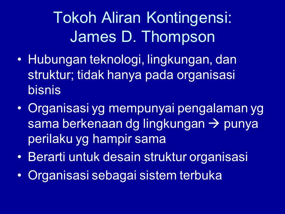 Tokoh Aliran Kontingensi: James D.
