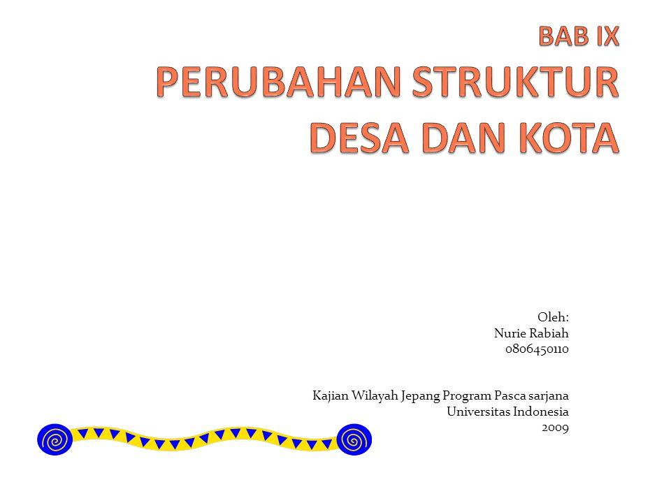 Oleh: Nurie Rabiah 0806450110 Kajian Wilayah Jepang Program Pasca sarjana Universitas Indonesia 2009