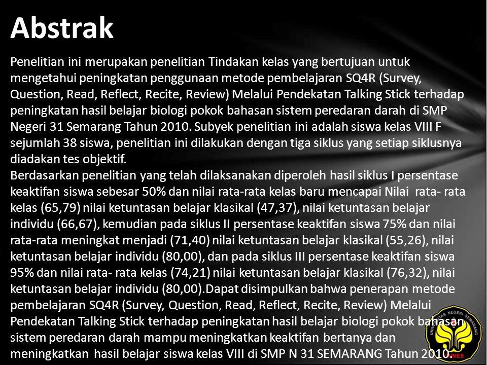 Kata Kunci Hasil Belajar, Metode Belajar SQ4R (Survey, Question, Read, Reflect, Recite, Review)