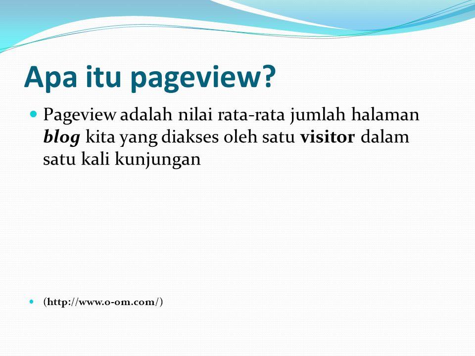Apa itu pageview.