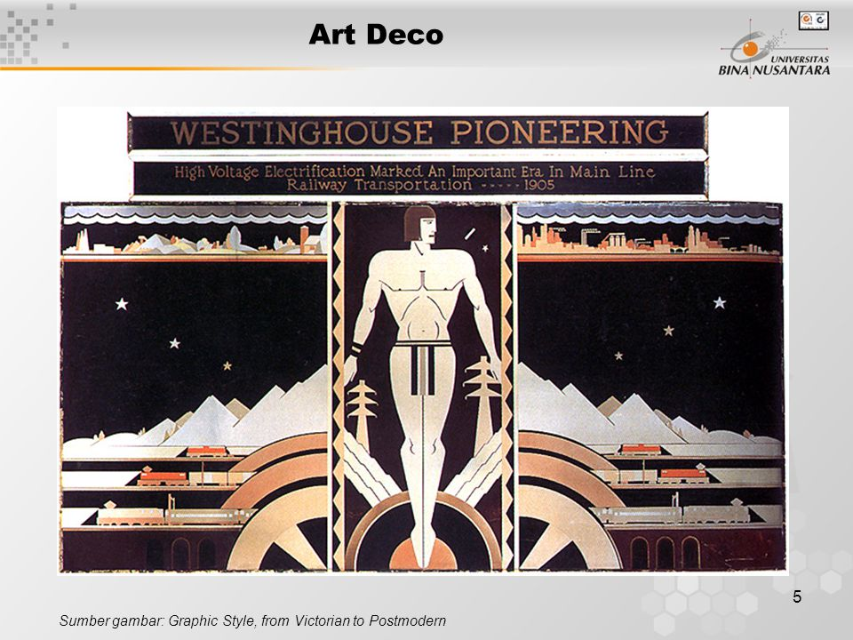 5 Art Deco Sumber gambar: Graphic Style, from Victorian to Postmodern