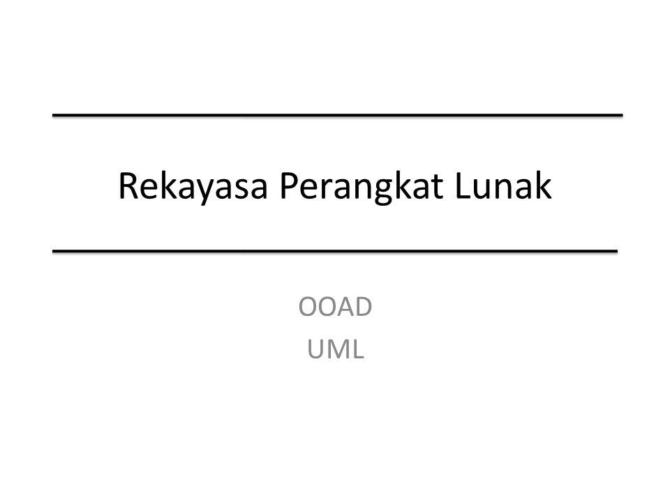 Hasil Utama OOA dan OOD Mengurangi kompleksitas persoalan dalam pengembangan sistem Mengatasi kompleksitas dengan cara-cara yang tidak dimiliki oleh metode lain.