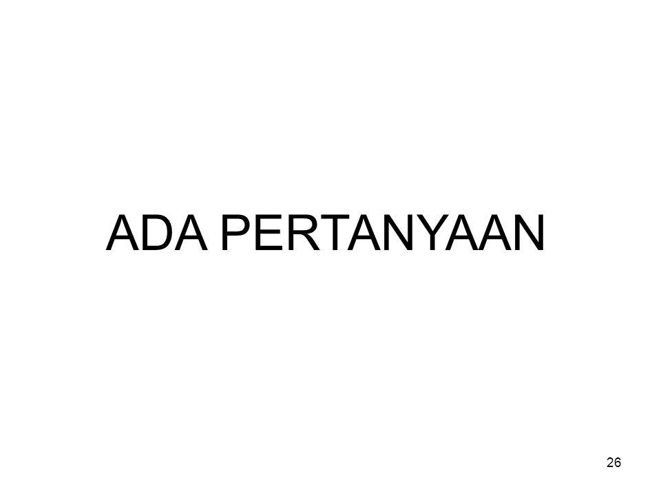 26 ADA PERTANYAAN