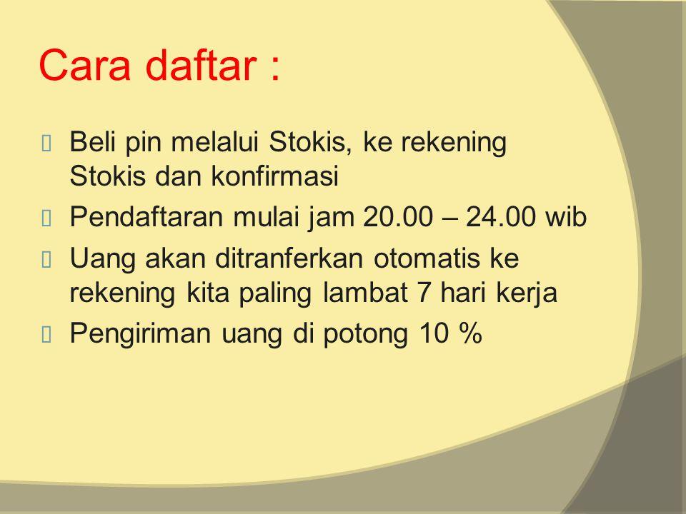 Illustration 1 IN OUT 4325 Semisal ini pin anda berjumlah 5 buah Kumpulan pin yang Seluruh indonesia 11 Modal 200.000/pin Keluar 300.000 jadi sekali masuk laba 100.000 x jumlah pin yang anda miliki secara nasional dengan sistem acak.