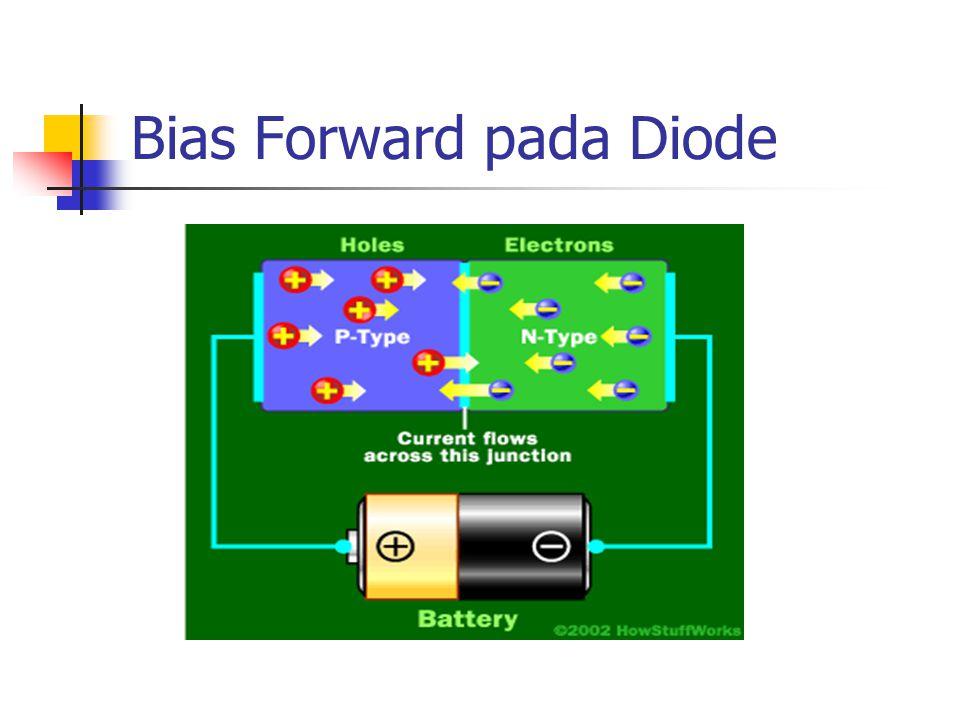 Bias Forward pada Diode