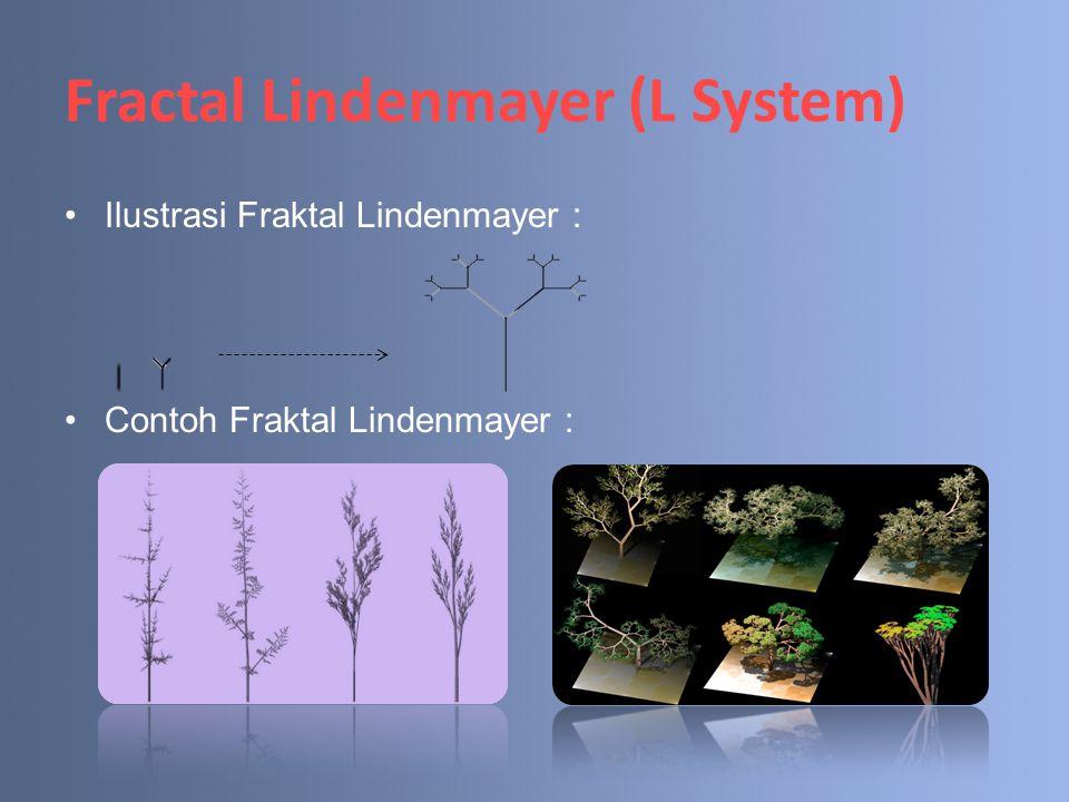 Fractal Lindenmayer (L System) Ilustrasi Fraktal Lindenmayer : Contoh Fraktal Lindenmayer :