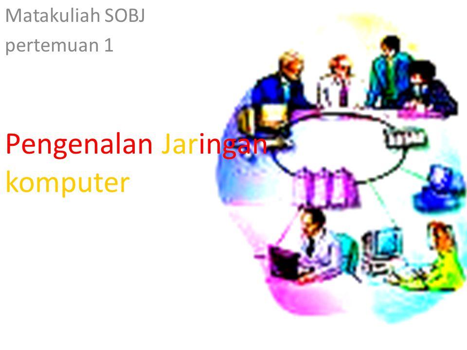 Pengenalan Jaringan komputer Matakuliah SOBJ pertemuan 1