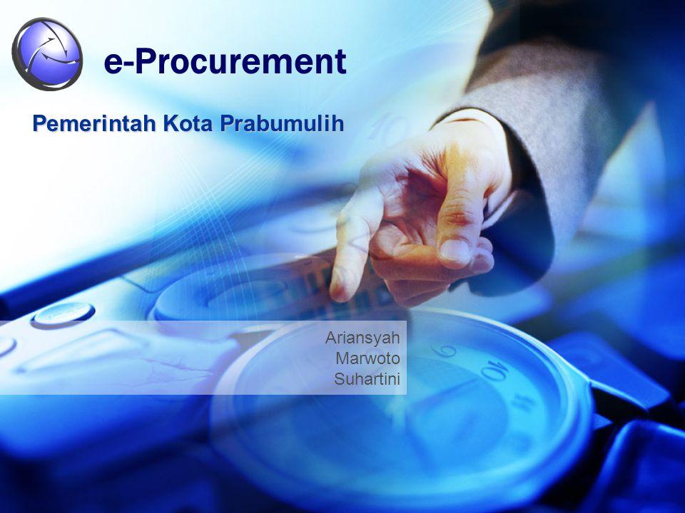 Ariansyah Marwoto Suhartini e-Procurement Pemerintah Kota Prabumulih