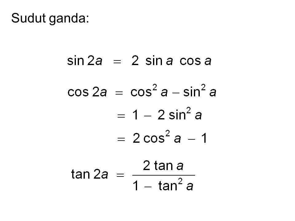 Soal 7 Jika tan a = p dan a di kuadran I maka sin 2a = ?