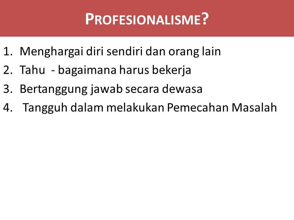 P ROFESIONALISME .