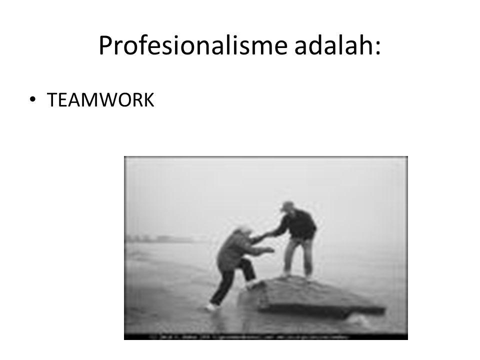 Profesionalisme adalah: TEAMWORK