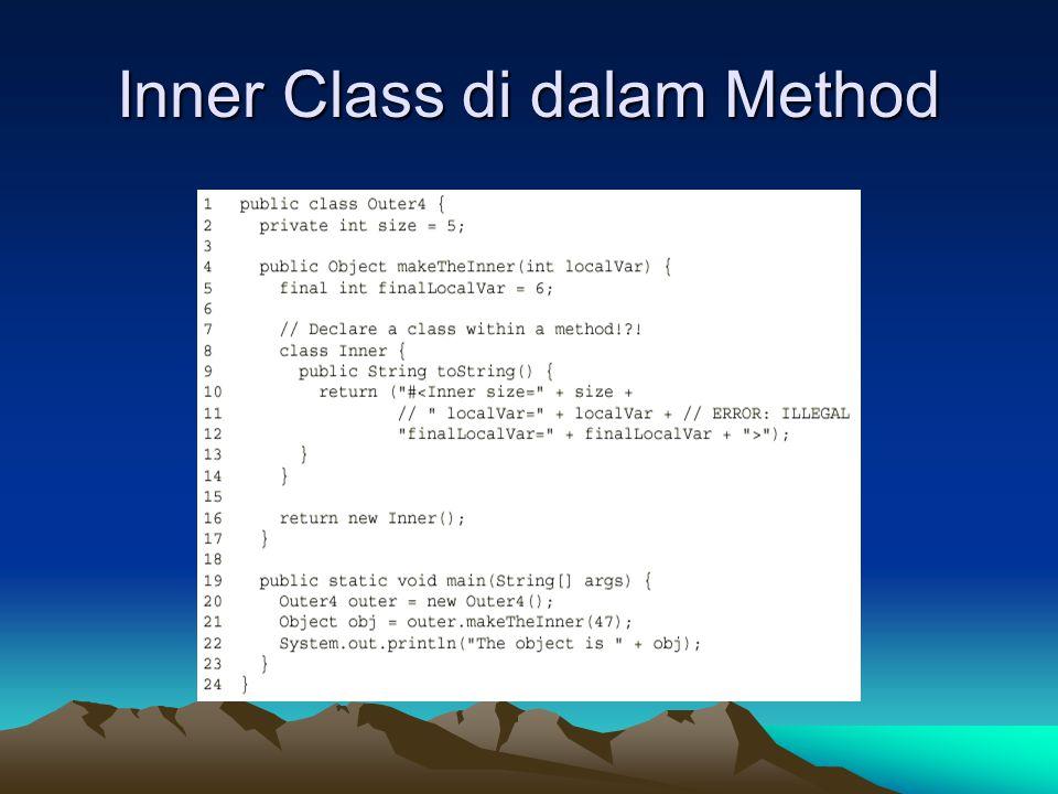 Inner Class di dalam Method