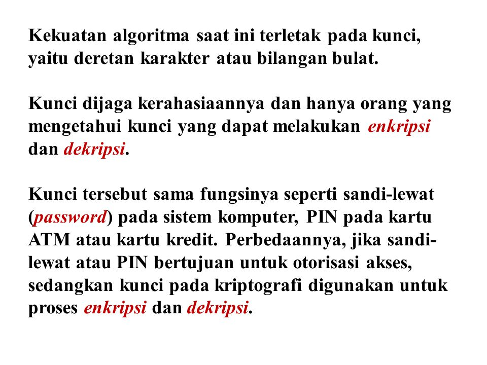 5. Tentukan inversi dari 7 modulo 26 Penyelesaian