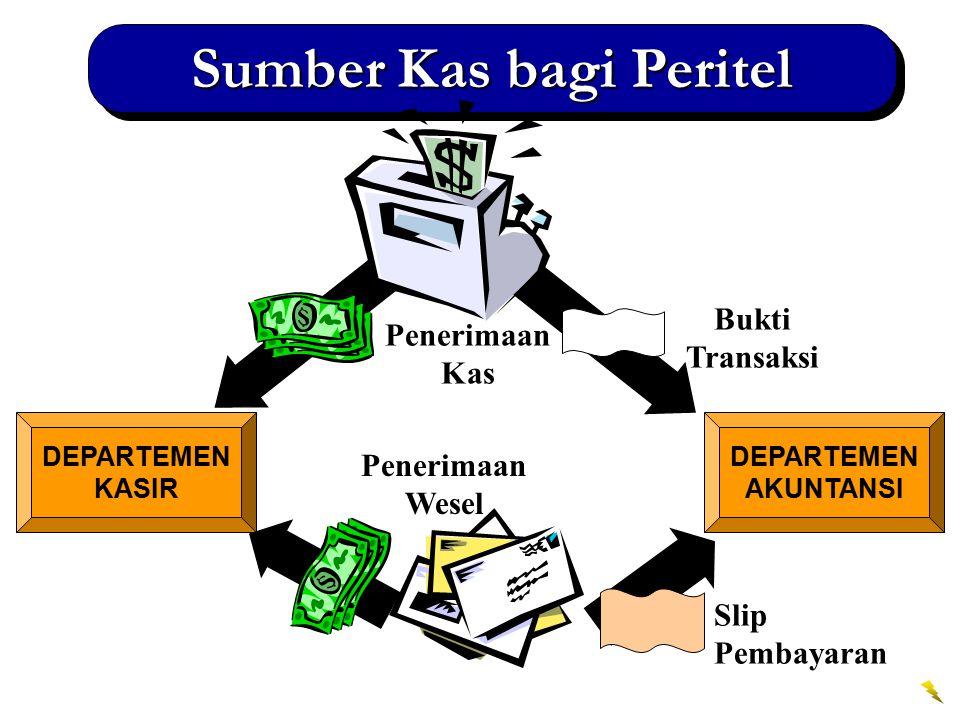 1 DEPARTEMEN AKUNTANSI Formulir Setoran Bank DEPARTEMEN KASIR Formulir Setoran Sumber Kas bagi Peritel