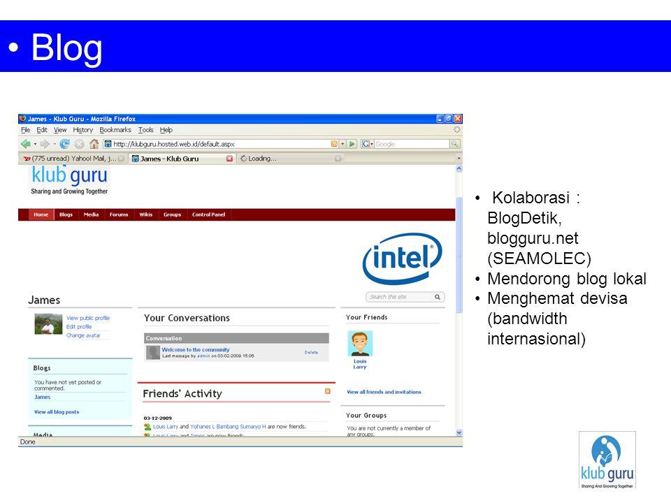 Blog Kolaborasi : BlogDetik, blogguru.net (SEAMOLEC) Mendorong blog lokal Menghemat devisa (bandwidth internasional)