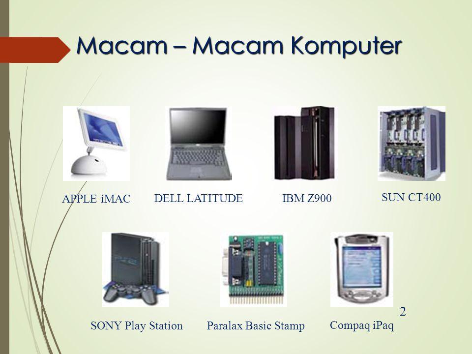 Macam – Macam Komputer 2 IBM Z900 SUN CT400 APPLE iMAC DELL LATITUDE SONY Play StationParalax Basic Stamp Compaq iPaq