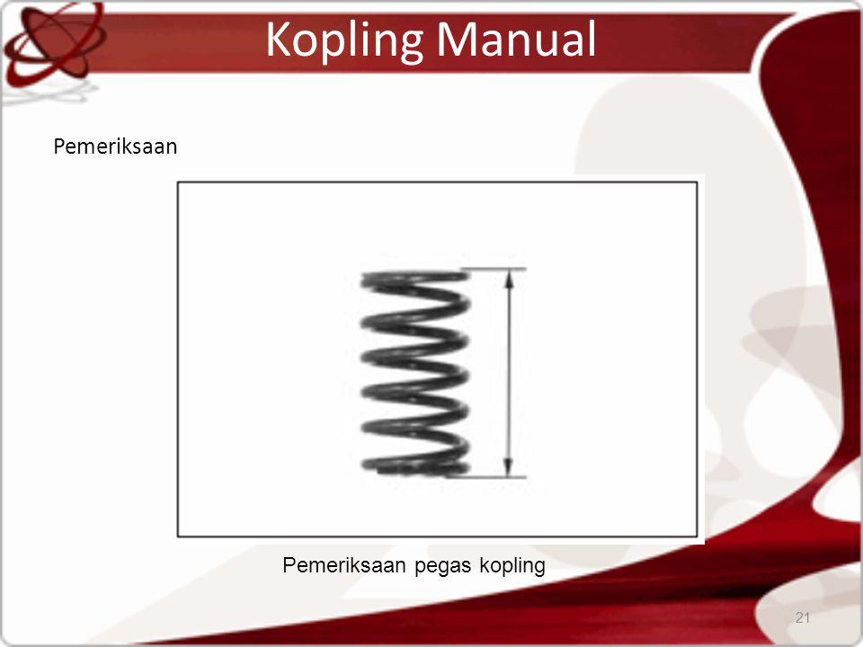 Kopling Manual Pemeriksaan 21 Pemeriksaan pegas kopling