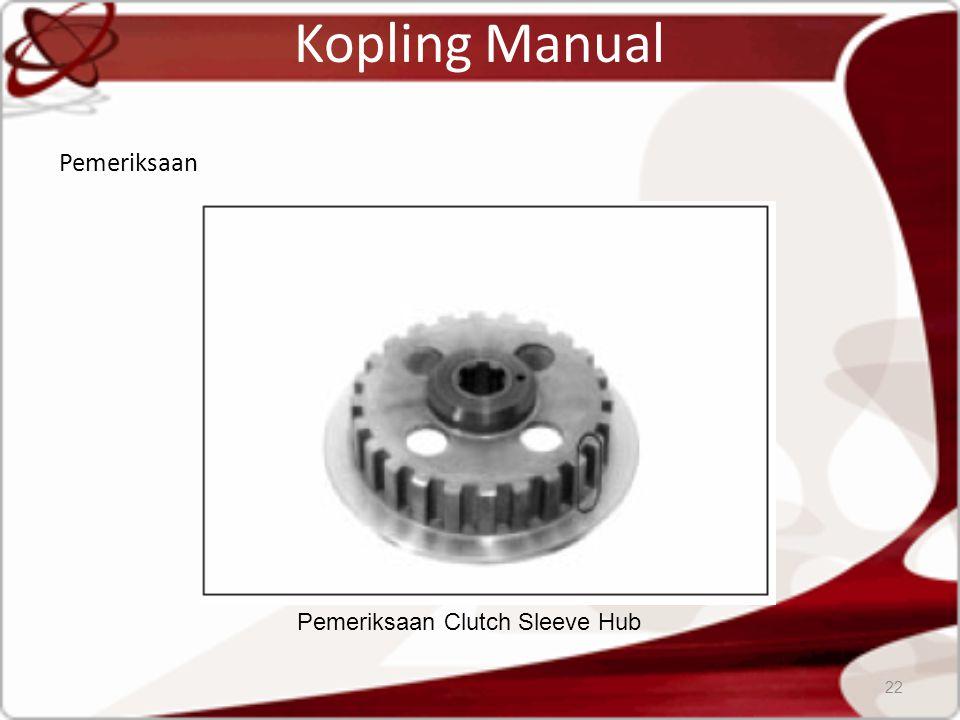 Kopling Manual Pemeriksaan 22 Pemeriksaan Clutch Sleeve Hub