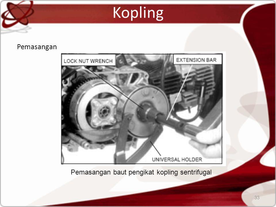 Kopling Pemasangan 33 Pemasangan baut pengikat kopling sentrifugal