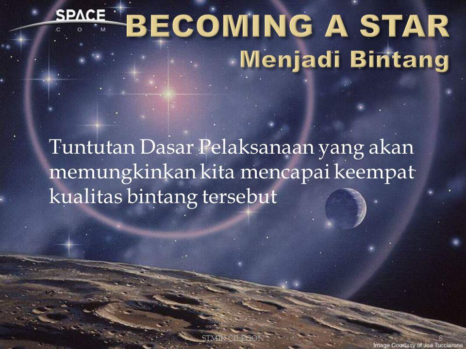 Tuntutan Dasar Pelaksanaan yang akan memungkinkan kita mencapai keempat kualitas bintang tersebut STMIK CILEGON8