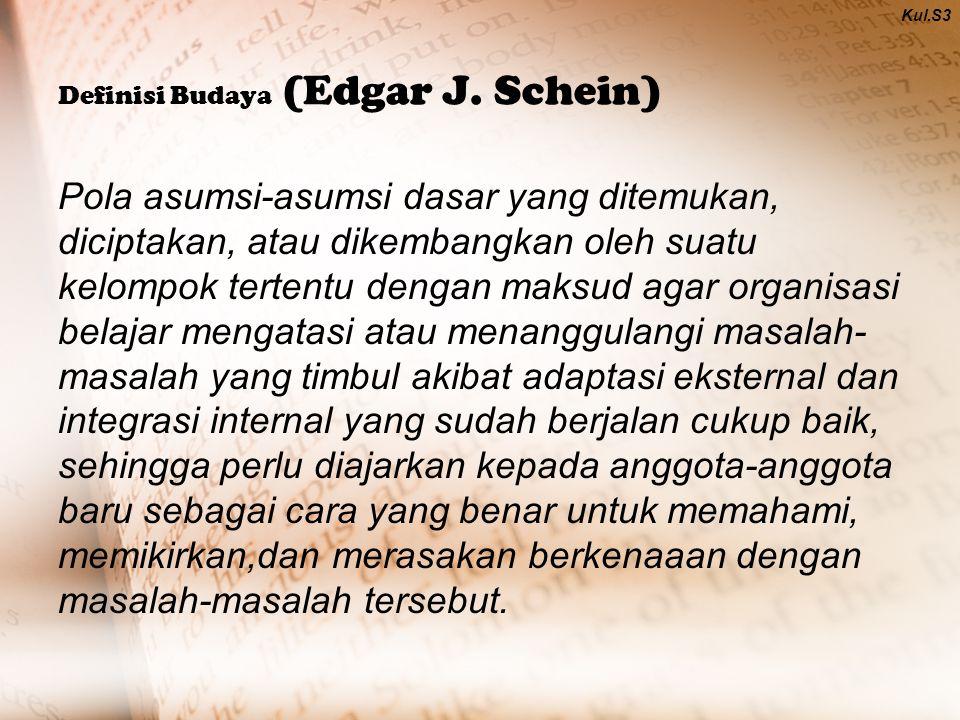 Definisi Budaya (Edgar J.