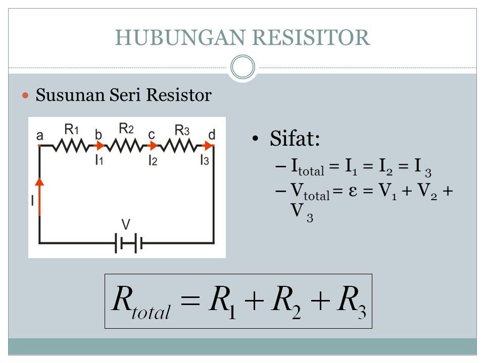 """Hukum 2 Kirchoff """"Total beda potensial pada rangkaian tertutup adalah nol"""" Σ IR + Σ ε = 0"""