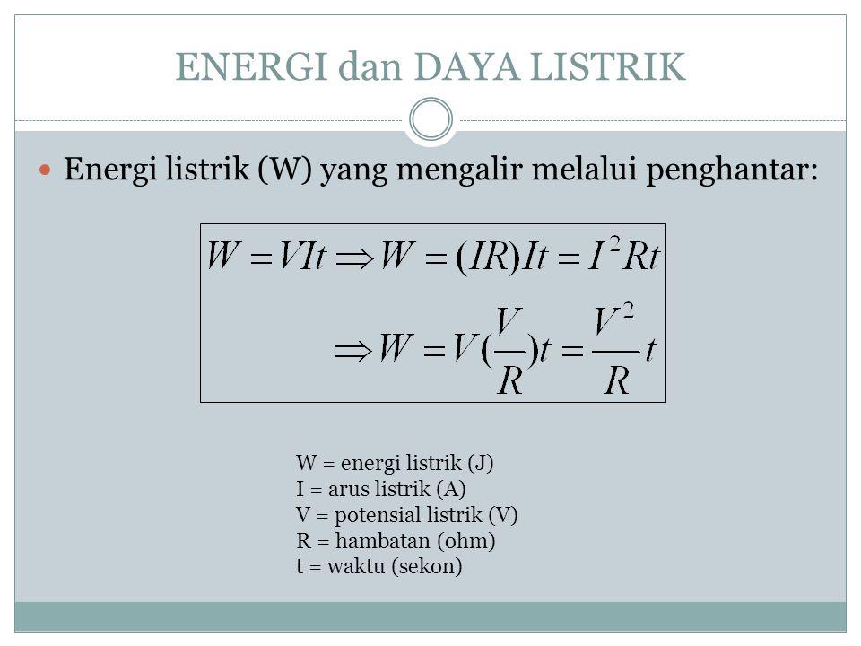 Sifat:  I total = I 1 + I 2 + I 3  V total = ε = V 1 = V 2 = V 3 Susunan Paralel Resistor