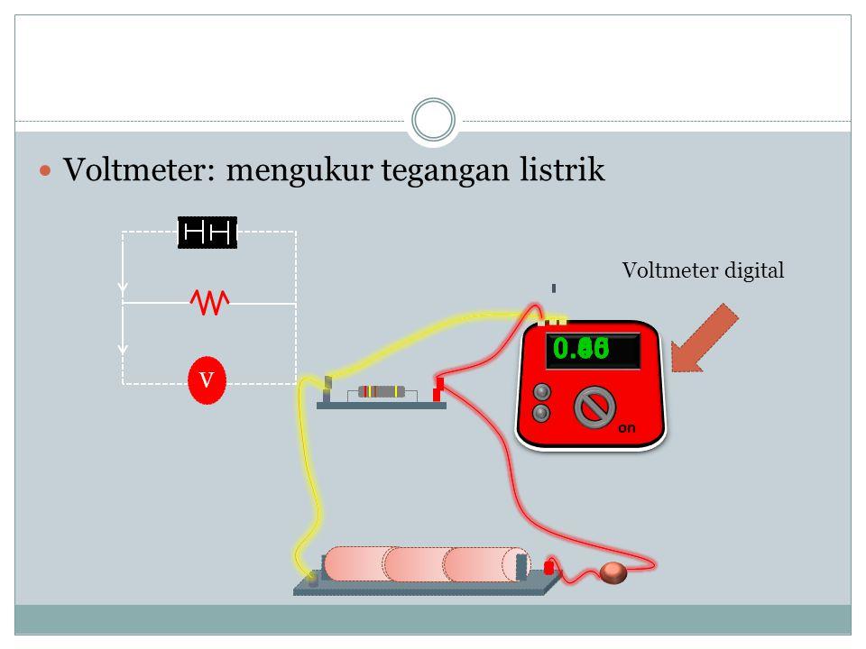 Amperemeter analog Arus yang terbaca pada jarum amperemeter cara membaca nilainya adalah : 20 0  0 1A 1A  40 60