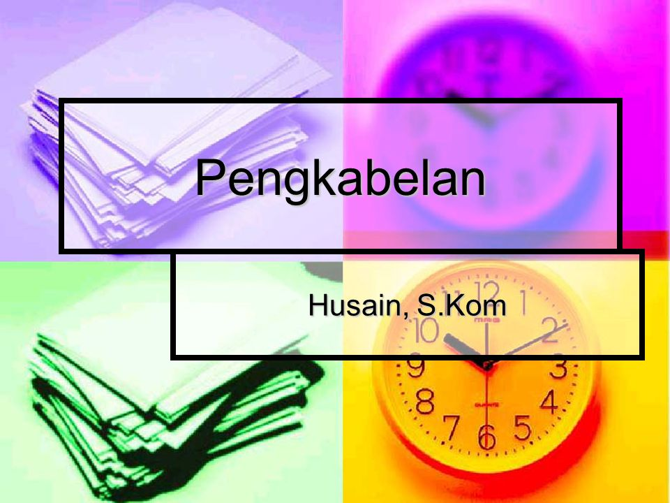 Pengkabelan Husain, S.Kom