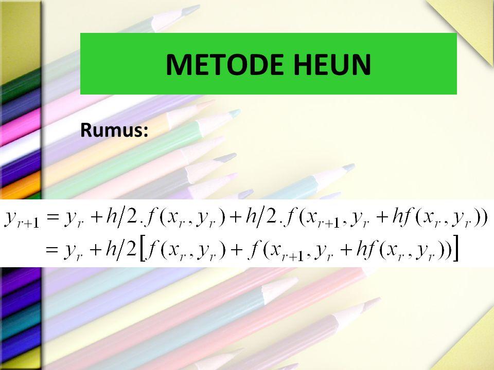METODE HEUN Rumus:
