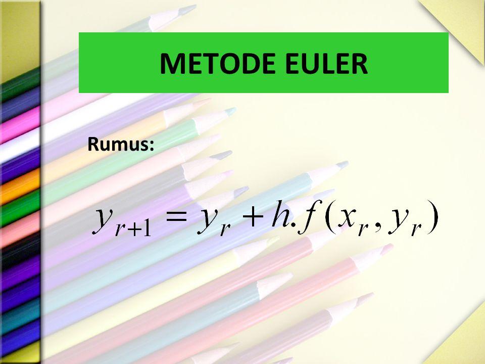 METODE EULER Rumus:
