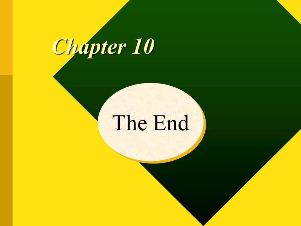 The End Chapter 10