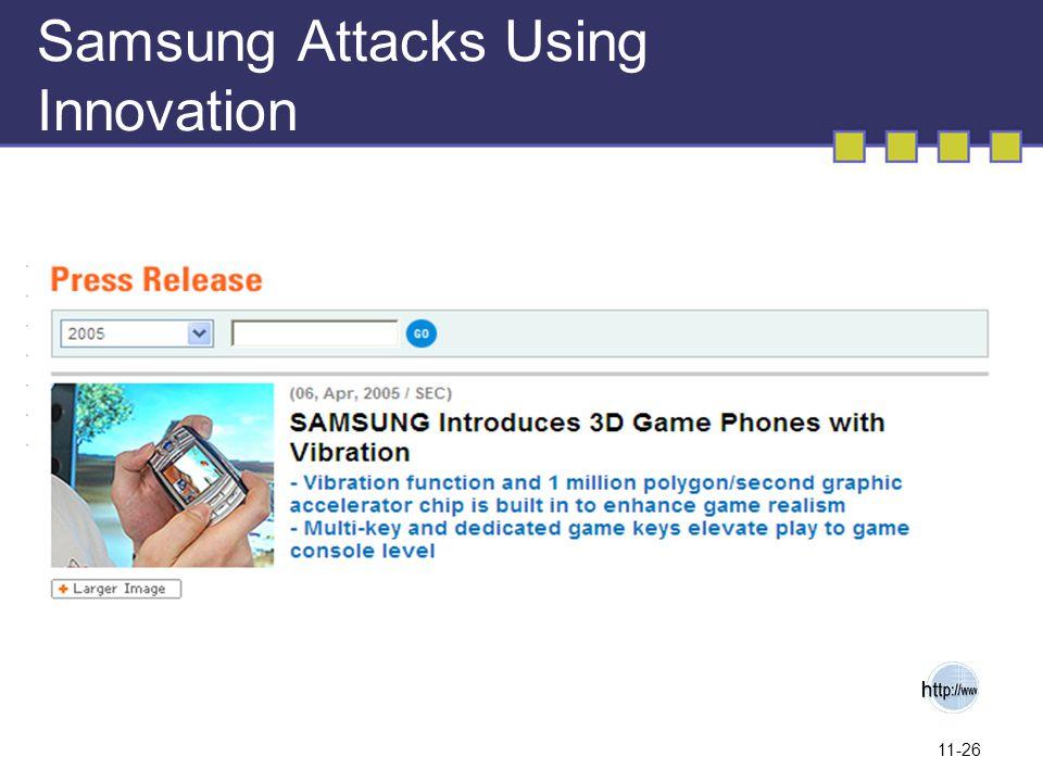 11-26 Samsung Attacks Using Innovation
